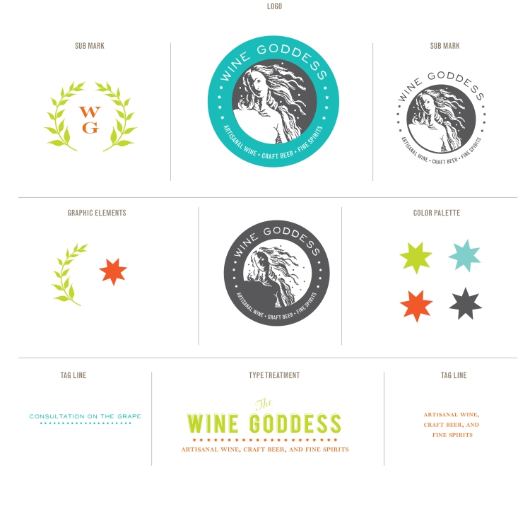 wine goddess logo page
